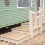 Cream Ballustrade with Stone deck boards used as platform steps for easier access