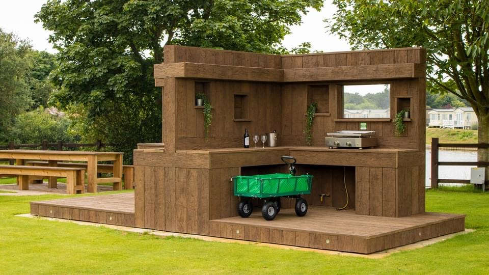 We have designed and manufactured outdoor kitchen area for Lakeside and Nettleton Park.