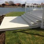 White ballustrade with stone deck boards