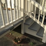 Cream ballustrade with grey deck boards